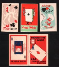 Vintage Playing card whist score cards Gas advertising #020